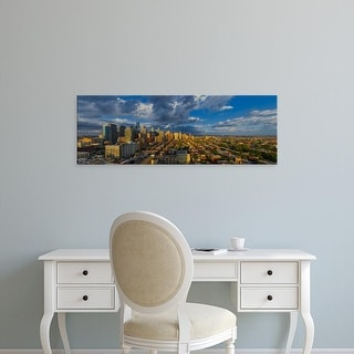 Easy Art Prints Panoramic Images's 'Elevated view of a city at dusk, Philadelphia, Pennsylvania, USA' Canvas Art