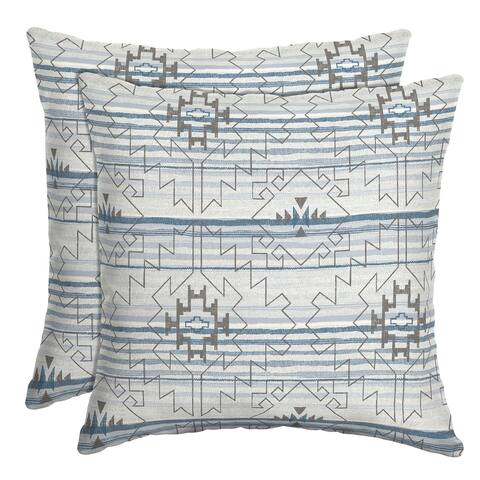 Arden Selections Carmen Southwest Outdoor Throw Pillow, 2 pack - 16 in L x 16 in W x 5 in H