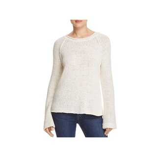 Elan Womens Pullover Sweater Cut-Out Raglan Sleeves