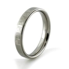 Forever Love Titanium Satin/High Polish Promise Ring