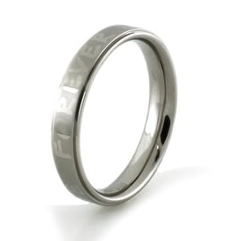 Forever Love Titanium Satin/High Polish Ring