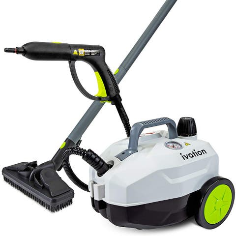 Ivation 1800W Canister Steam Cleaner with 14 Accessories, Multi-Purpose Chemical-Free Household Cleaning and Sanitizing System