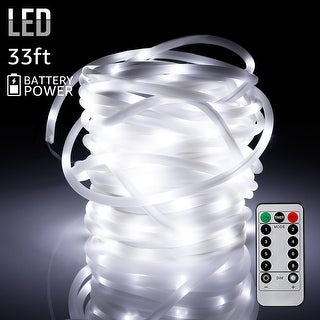 33ft 100LEDs Starry String Lights, Waterproof, White