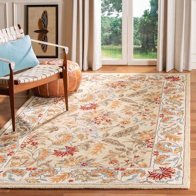 SAFAVIEH Handmade Chelsea Ashlyn French Country Floral Wool Rug