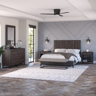 Atria 5 Pc Bedroom Set with Full or Queen Headboard by Bush Furniture