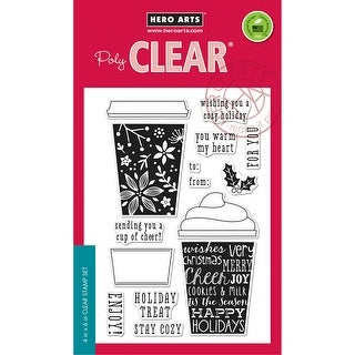 "Hero Arts Clear Stamps 4""X6""-Coffee Cup Tags"