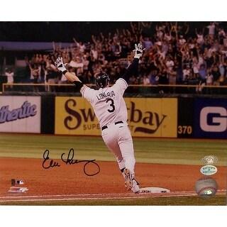 Evan Longoria Autographed Hand Tampa Bay Rays 8x10 Photo Photograph
