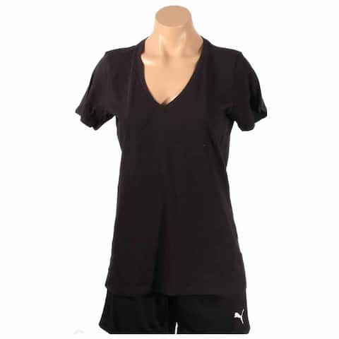 Converse W2 Women V Neck T-Shirt Womens Top Athletic T-Shirt Short