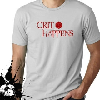 Crit Happens t shirt Dungeons and Dragons apparel D&D tee