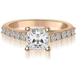 0.60 ct.tw Princess And Round Diamond Engagement Ring,HI,SI1-2