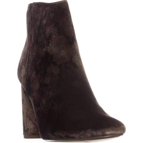 Material Girl Womens Cambrie1 Fabric Closed Toe Ankle Fashion Boots