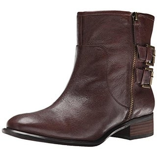 Nine West Womens Just This Ankle Boots Leather Belted