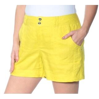Womens Yellow Bermuda Short Size 12