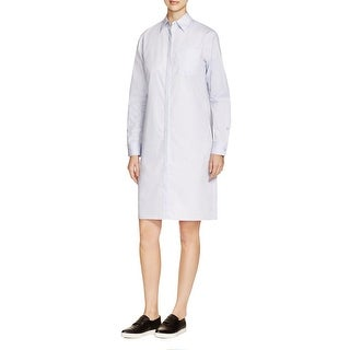 DKNY Womens Shirtdress Pleated Long Sleeves