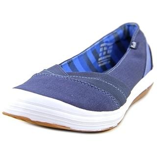 Keds Whimsy Slip On Women Round Toe Canvas Blue Flats