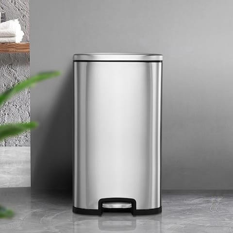 13.2 Gallon Stainless Steel Trash Garbage Can Airtight Soft Close Bin