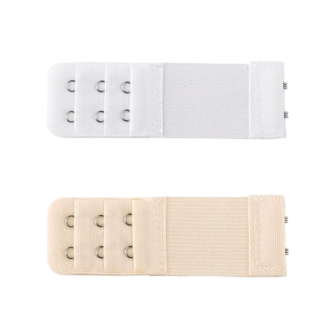 3 x black, 3 x white, 3 x beige Four-hook Bra Extender 9-pack