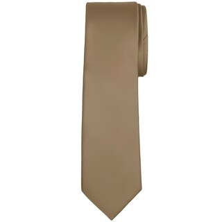 Jacob Alexander Men's Extra Long Solid Color Tie - One size (Option: Tan)