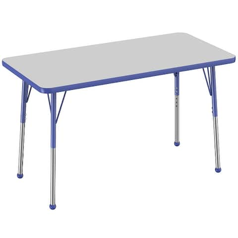 """24"""" x 48"""" Rectangle Activity Table with Adjustable Ball Glide Legs"""