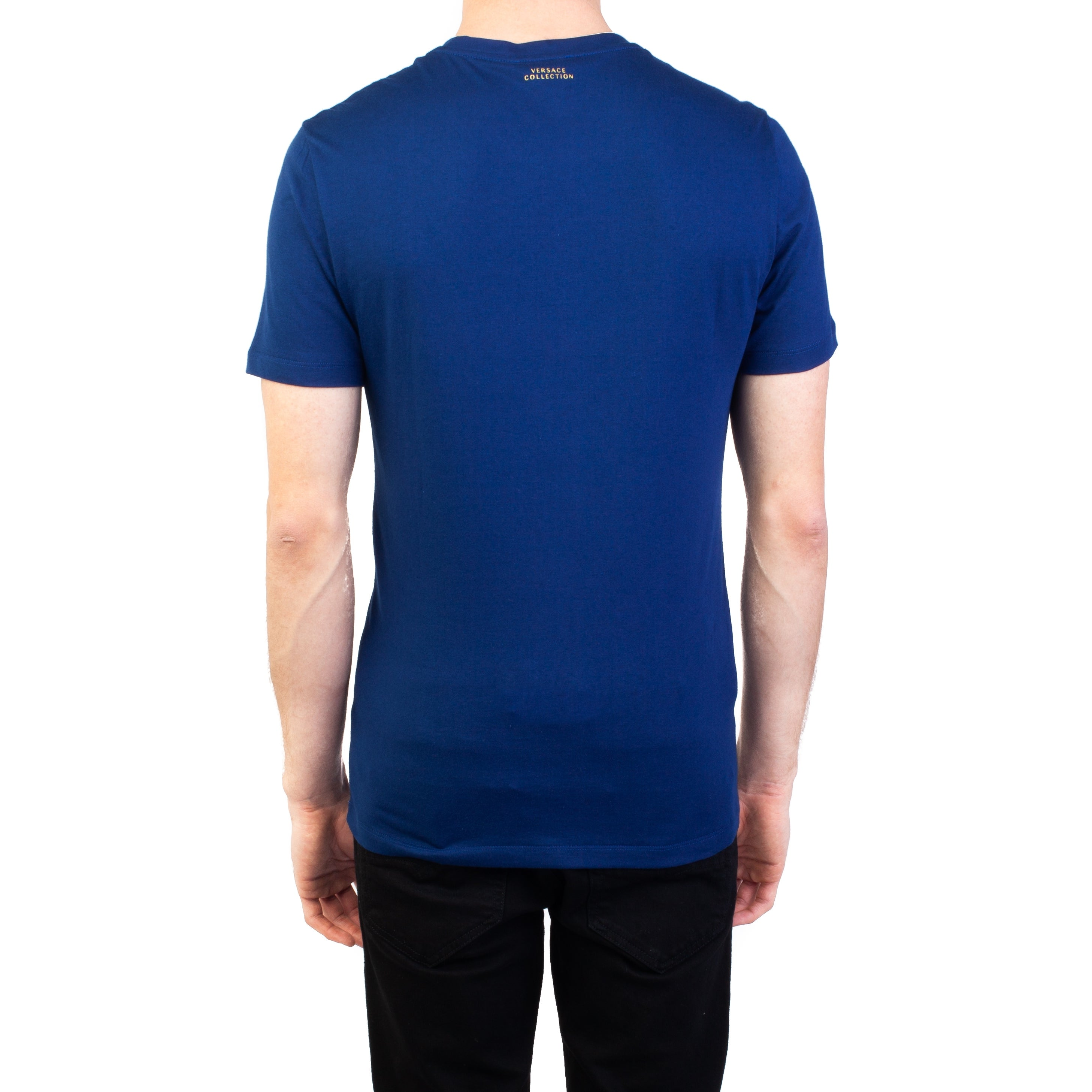 095a9812f Shop Versace Collection Men's Cotton Angular Medusa Graphic T-Shirt Blue  Gold - Free Shipping Today - Overstock - 27675699