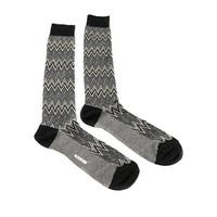 Missoni GM00CMU5242 0004 Gray/Black Knee Length Socks - Grey