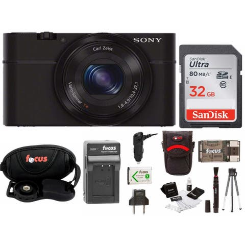 Sony Cyber-shot DSC-RX100 Digital Camera (Black) with 32GB Deluxe Accessory Bundle