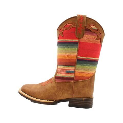 Twister Western Boots Girls Serenity Serape Multi-Color