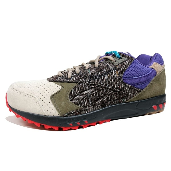Reebok Men's Inferno Suede Alabaster/Blue Move-Black Bodega Tweed M48298