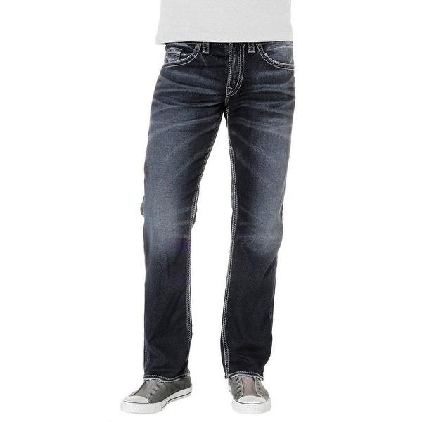 4db6e9bb99 Shop Silver Jeans Denim Mens Zac Relaxed Joga Dark Wash - Free ...