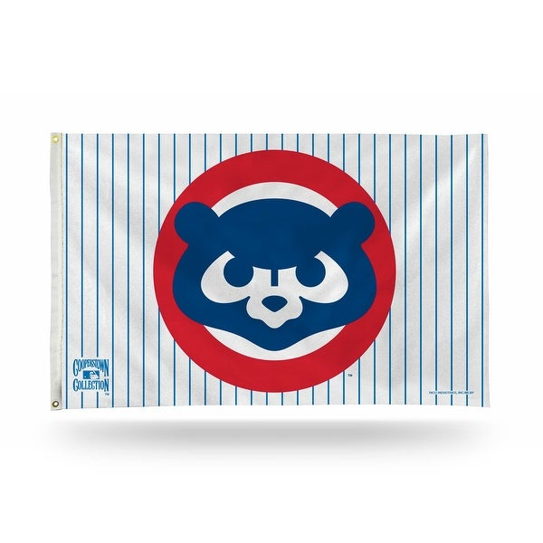 3' x 5' Blue and Red MLB Chicago Cubs Large Banner Flag - N/A