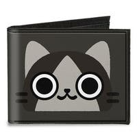Merarou Face Close Up + Logo Grays Canvas Bi Fold Wallet One Size - One Size Fits most