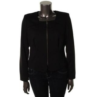 Calvin Klein Womens Ponte Collarless Casual Blazer - 12
