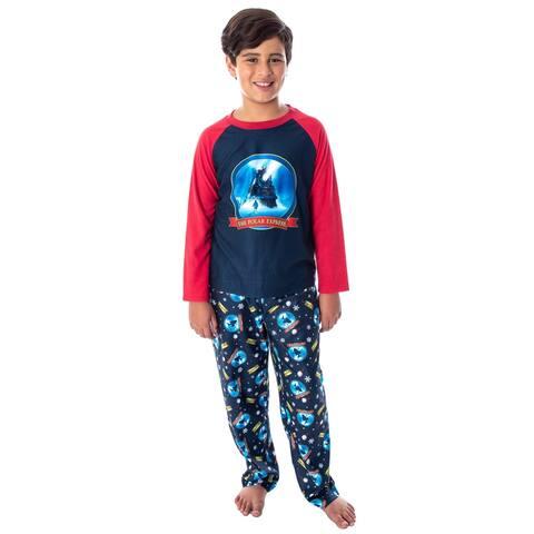 The Polar Express Train Big Kids Raglan Pajama Set