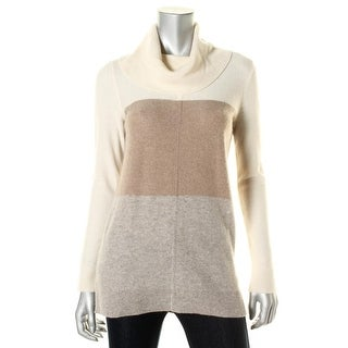 Lauren Ralph Lauren Womens Cashmere Side Slit Sweater - S