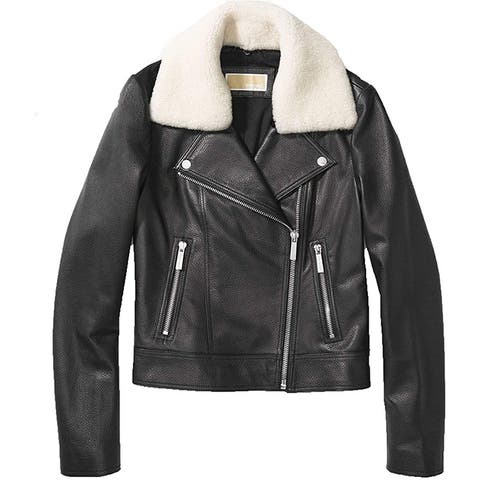 Michael Kors Black Jacket with Shearling Collar