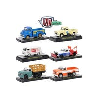 Auto Trucks 6 Piece Set Release 46 IN DISPLAY CASES 1/64 Diecast Model Cars by M2 Machines