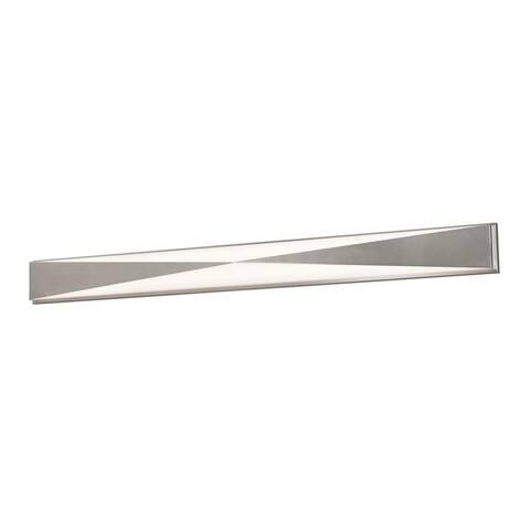Novara 49-inch ADA Satin Nickel LED Vanity, White Acrylic Shade