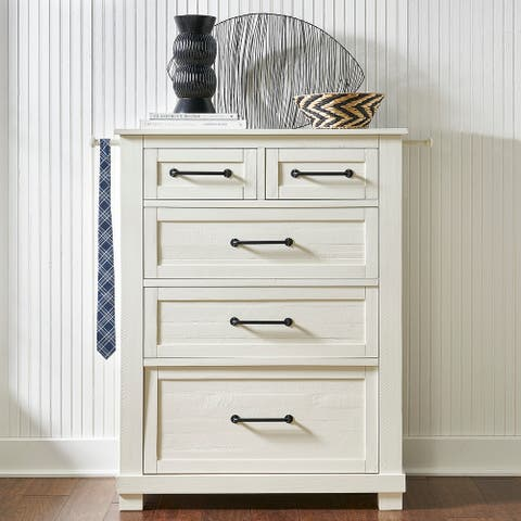Simply Solid Shanna Solid Wood 5-drawer Chest