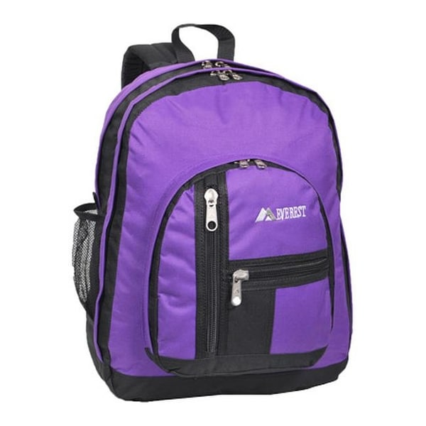 Everest Double Compartment Backpack Dark Purple - us one size (size none)