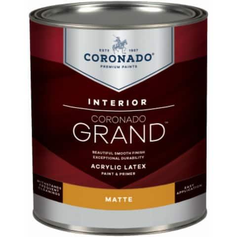 Coronado 701-36-4 Grand Acrylic Latex Paint & Primer, Matte, Accent Base, 1 Qt