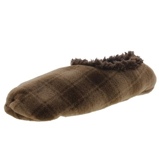 Snoozies Mens Fleece Lined Plaid Slip-On Slippers - 11-12