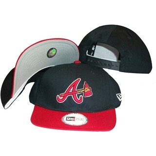 Atlanta Braves Navy/Red Two Tone Low Profile Snapback Hat / Cap