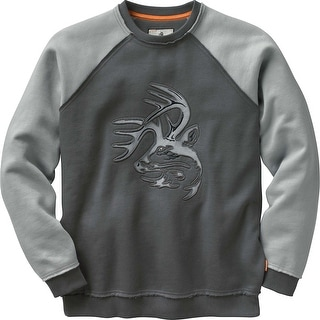 Legendary Whitetails Mens Vintage Deer Camp Crew - Charcoal