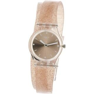 Swatch Women's Pinkindescent LK354C Pink Silicone Swiss Quartz Fashion Watch