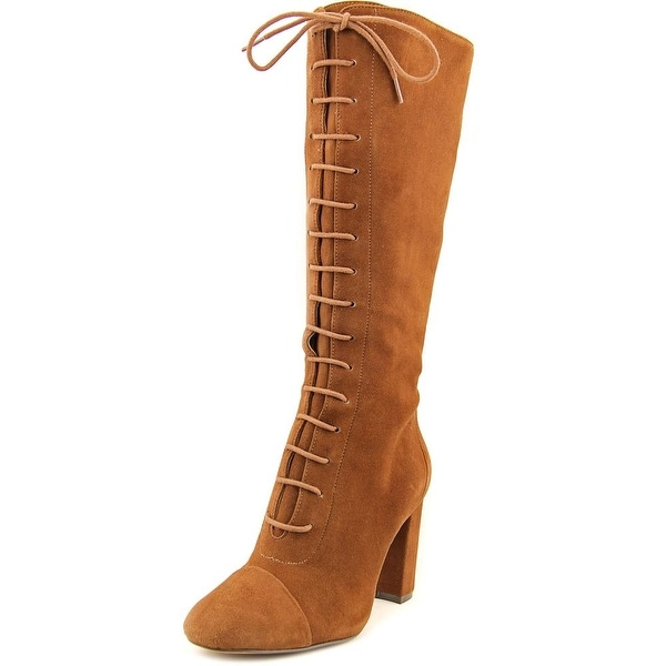 Nine West Waterfall Women Round Toe Suede Brown Mid Calf Boot