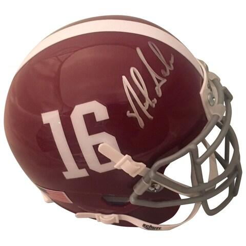 Nick Saban Autographed Alabama Signed Football Mini Helmet PSA DNA COA