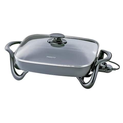 """Presto 06852 Electric Skillet With Glass Cover, 16"""", 120 V, 1500 Watts"""