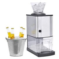 Costway Electric Stainless Steel Ice Crusher Shaver Maker Machine Professional Tabletop - as pic
