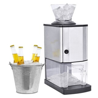 Costway Electric Stainless Steel Ice Crusher Shaver Maker Machine Professional Tabletop