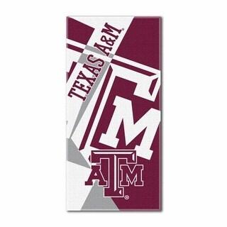 1COL-72200-0036-RET NCAA Texas A&M Puzzle Beach Towel, 72 x 34